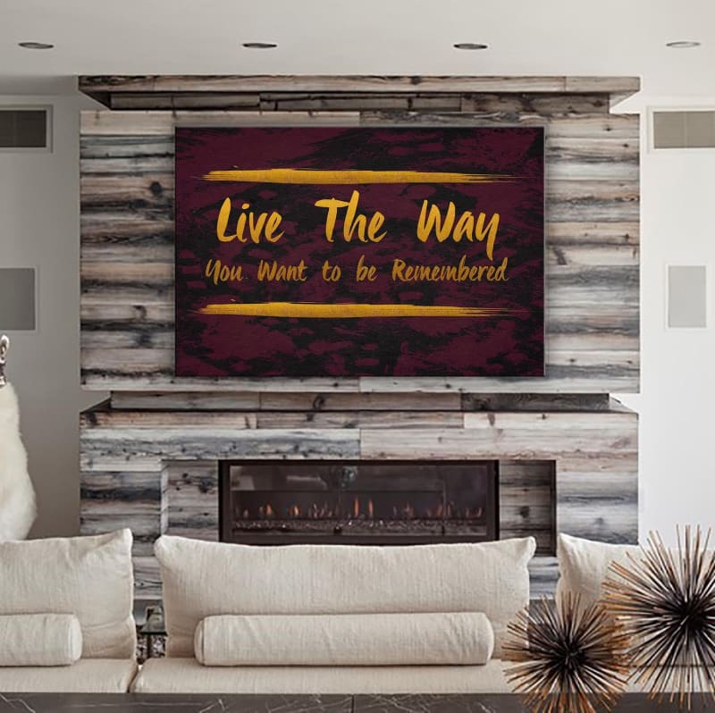 Live the Way - Framed Canvas Painting Wall Art Office Decor, large modern pop artwork for home or office, Entrepreneur Inspirational and motivational Quotes on Canvas great for man cave or home. Perfect for Artwork Addicts. Made in USA, FREE Shipping.