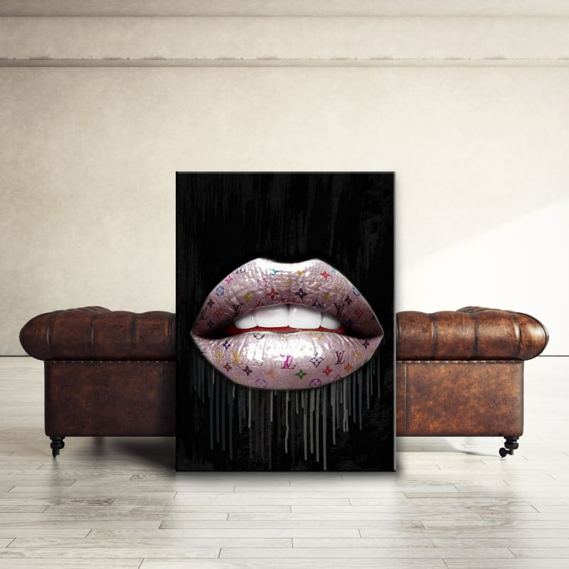 Louis Vuitton Inspired Lips Dripping - Artwork Addict