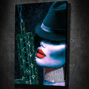 Louis Vuitton Sexy Gangster II - Framed Canvas Painting Wall Art Office Decor, large modern pop artwork for home or office, Entrepreneur Inspirational and motivational Quotes on Canvas great for man cave or home. Perfect for Artwork Addicts. Made in USA, FREE Shipping.