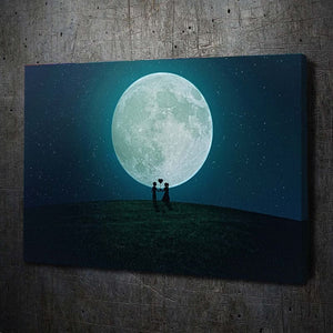 Love Heart Balloon Moon - Artwork Addict