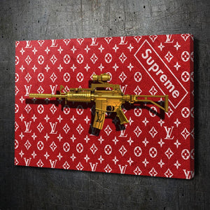 LV Supreme Gold Gun - Artwork Addict