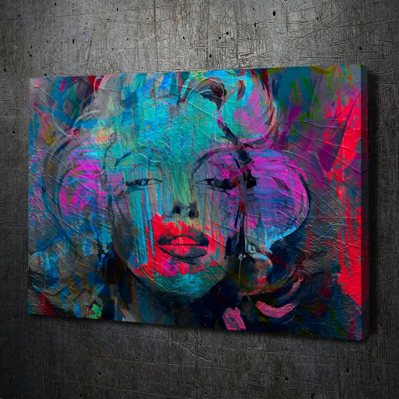 Marilyn Monroe Abstract - Framed Canvas Painting Wall Art Office Decor, large modern pop artwork for home or office, Entrepreneur Inspirational and motivational Quotes on Canvas great for man cave or home. Perfect for Artwork Addicts. Made in USA, FREE Shipping.
