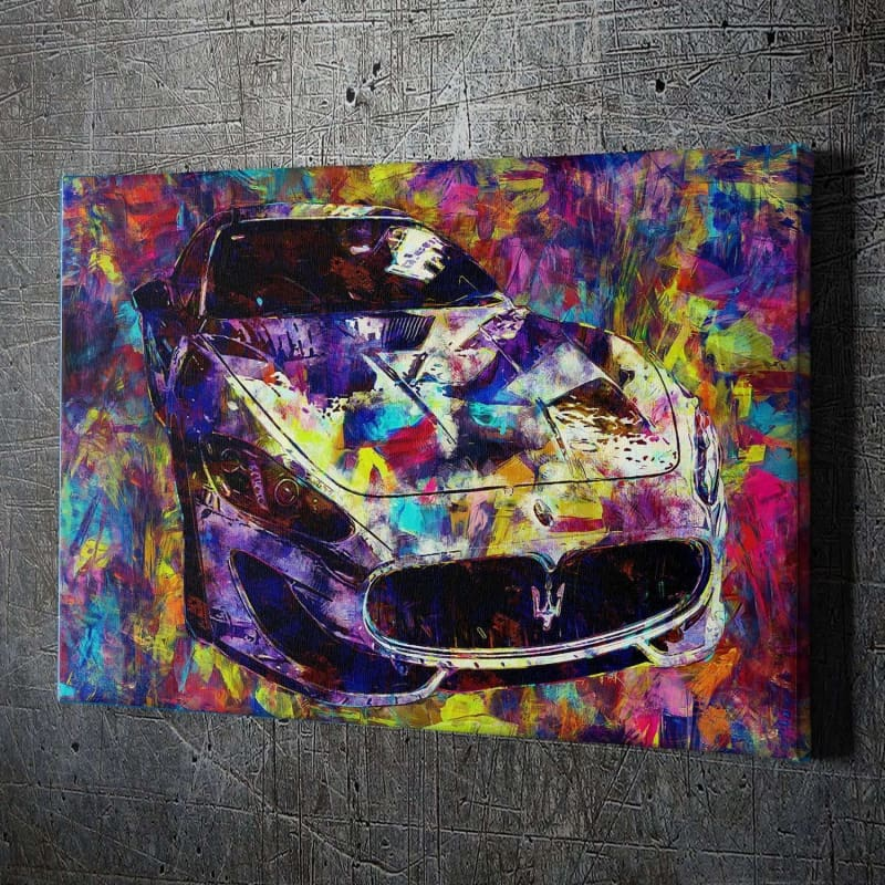 Maserati Knife Paint - Artwork Addict