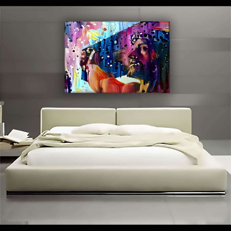 Messiah - Framed Canvas Painting Wall Art Office Decor, large modern pop artwork for home or office, Entrepreneur Inspirational and motivational Quotes on Canvas great for man cave or home. Perfect for Artwork Addicts. Made in USA, FREE Shipping.