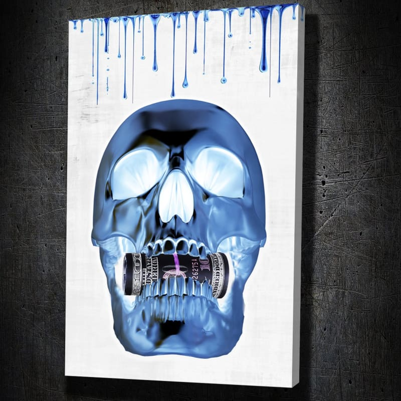 Money Hungry Skull Inverted - Artwork Addict