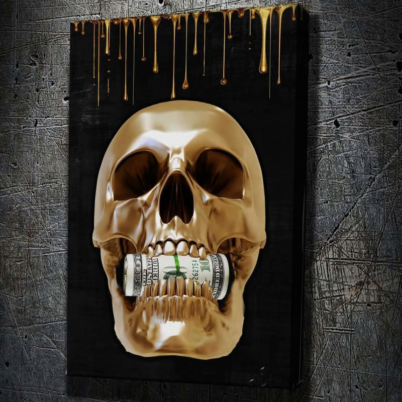 Money Hungry Skull - Artwork Addict