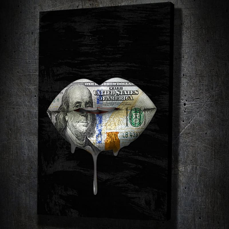 Money Lips Drip Portrait - Artwork Addict