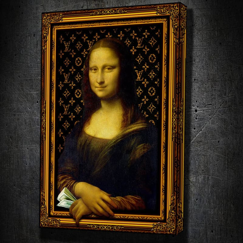 Money Mona Lisa 3D Wall Art - Artwork Addict