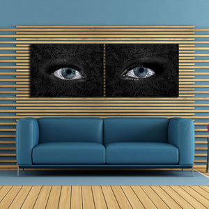 Money on Eye Multi-Panel - Framed Canvas Painting Wall Art Office Decor, large modern pop artwork for home or office, Entrepreneur Inspirational and motivational Quotes on Canvas great for man cave or home. Perfect for Artwork Addicts. Made in USA, FREE Shipping.
