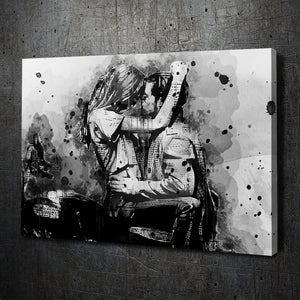 Motorcycle Kiss Ink Art - Artwork Addict
