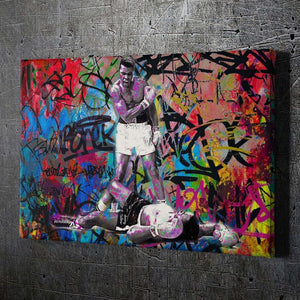 Muhammad Ali Graffiti Wall Art - Artwork Addict