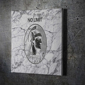 No Limit Amex - Framed Canvas Painting Wall Art Office Decor, large modern pop artwork for home or office, Entrepreneur Inspirational and motivational Quotes on Canvas great for man cave or home. Perfect for Artwork Addicts. Made in USA, FREE Shipping.