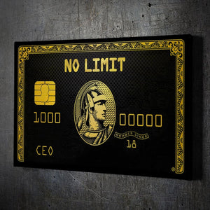 No Limit CEO - Framed Canvas Painting Wall Art Office Decor, large modern pop artwork for home or office, Entrepreneur Inspirational and motivational Quotes on Canvas great for man cave or home. Perfect for Artwork Addicts. Made in USA, FREE Shipping.