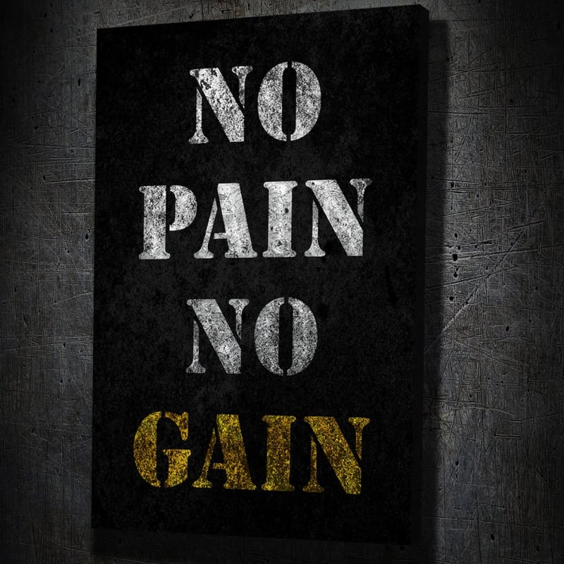 No Pain No Gain Canvas Art Portrait