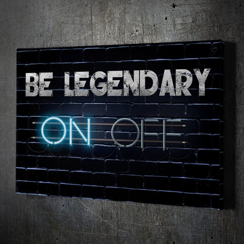 On Off - Framed Canvas Painting Wall Art Office Decor, large modern pop artwork for home or office, Entrepreneur Inspirational and motivational Quotes on Canvas great for man cave or home. Perfect for Artwork Addicts. Made in USA, FREE Shipping.