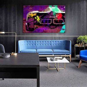 Rear Lambo Splatter - Framed Canvas Painting Wall Art Office Decor, large modern pop artwork for home or office, Entrepreneur Inspirational and motivational Quotes on Canvas great for man cave or home. Perfect for Artwork Addicts. Made in USA, FREE Shipping.