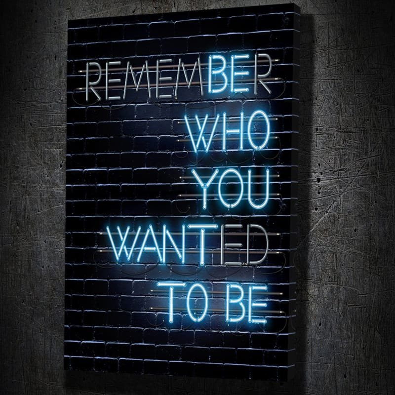 Remember - Framed Canvas Painting Wall Art Office Decor, large modern pop artwork for home or office, Entrepreneur Inspirational and motivational Quotes on Canvas great for man cave or home. Perfect for Artwork Addicts. Made in USA, FREE Shipping.