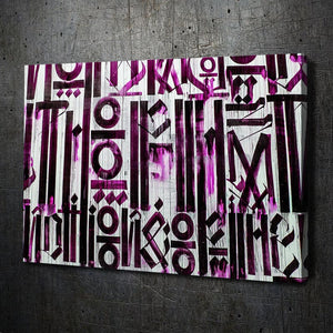 Retna Inspired Graffiti Urban Pink Canvas Art Landscape
