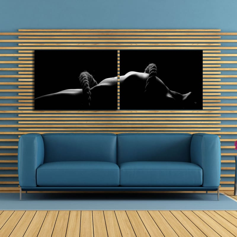 Roped Up Fine Art - Framed Canvas Painting Wall Art Office Decor, large modern pop artwork for home or office, Entrepreneur Inspirational and motivational Quotes on Canvas great for man cave or home. Perfect for Artwork Addicts. Made in USA, FREE Shipping.