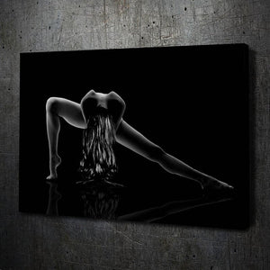 Stretch Nude Fine Art - Framed Canvas Painting Wall Art Office Decor, large modern pop artwork for home or office, Entrepreneur Inspirational and motivational Quotes on Canvas great for man cave or home. Perfect for Artwork Addicts. Made in USA, FREE Shipping.
