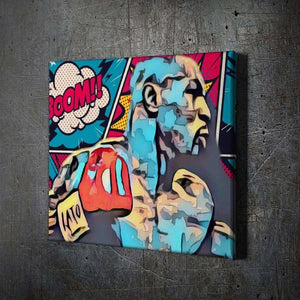 Tyson Boom - Framed Canvas Painting Wall Art Office Decor, large modern pop artwork for home or office, Entrepreneur Inspirational and motivational Quotes on Canvas great for man cave or home. Perfect for Artwork Addicts. Made in USA, FREE Shipping.