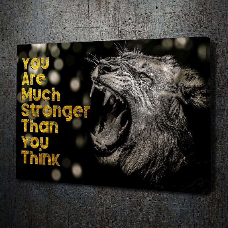 You Are Much Stronger Canvas Art Landscape