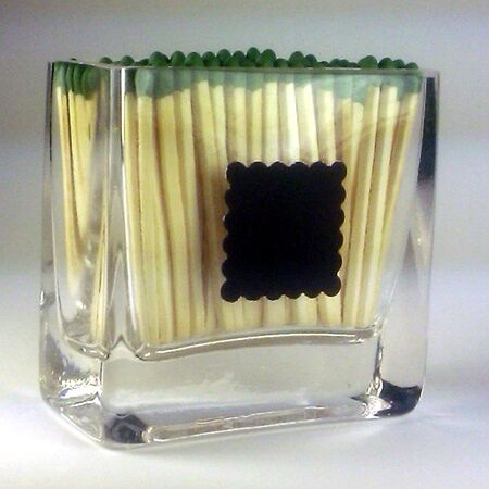 Image of rectangle Matchstick Holder vase