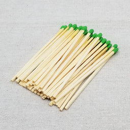"4"" Matchsticks - Green - Loose"