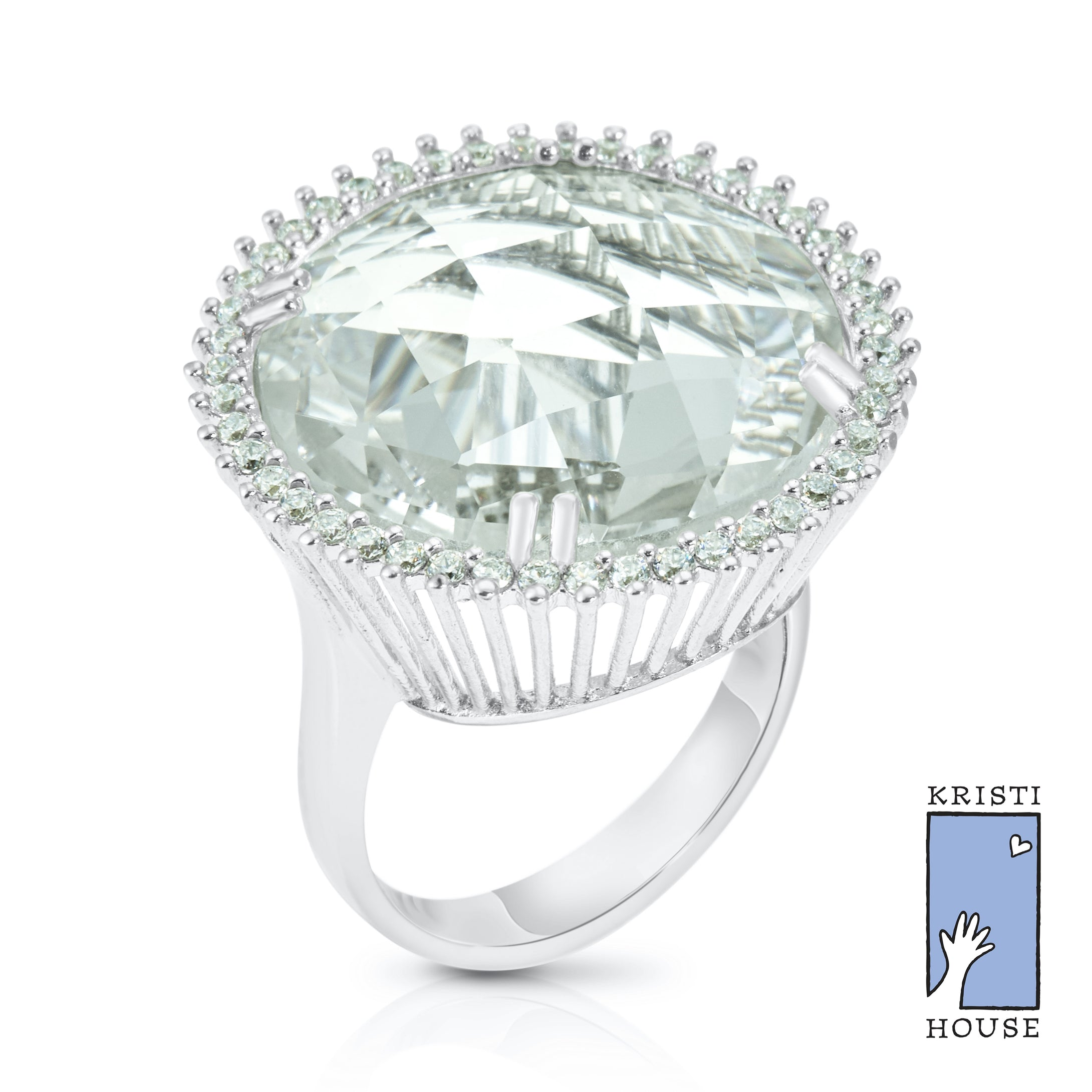 Silver Lining Cocktail Ring