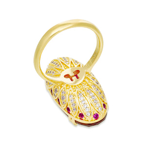 Lotus Ellipse Cocktail Ring