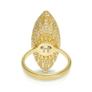 Lotus Marquise Cocktail Ring