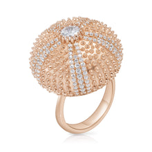 Pink Sea Urchin Cocktail Ring