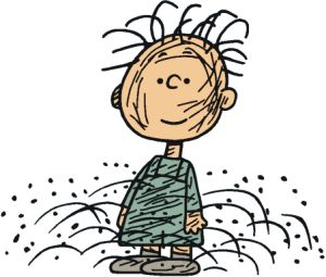 pig pen from peanuts cartoon