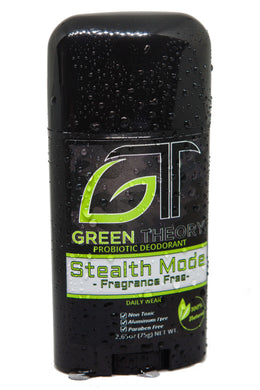 stealth mode fragrance free probiotic natural deodorant