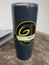 Green Theory black vinyl sticker on insulated mug