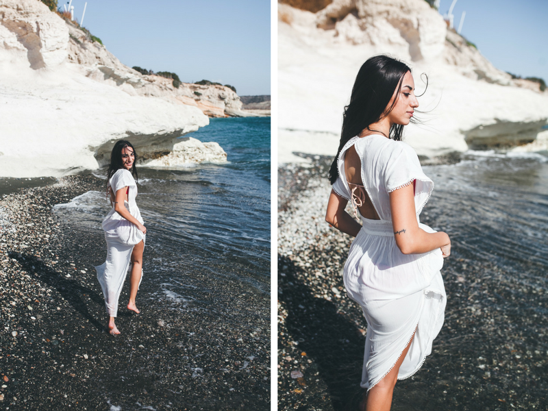 Cypriot beauty Rafaela at Governor's Beach in Limassol