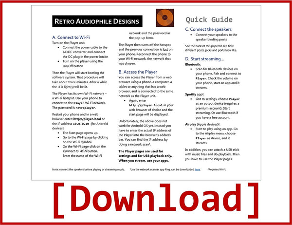 Download - Quick guide