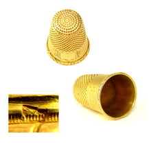 Load image into Gallery viewer, Antique French 18K Yellow Gold Sewing Thimble