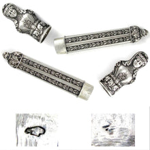 Load image into Gallery viewer, Antique French .800 Silver Figural Roman Lady Sewing Needle Case Etui