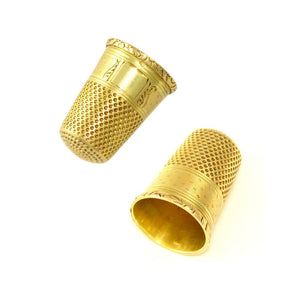 Antique French 18K Yellow Gold Sewing Thimble