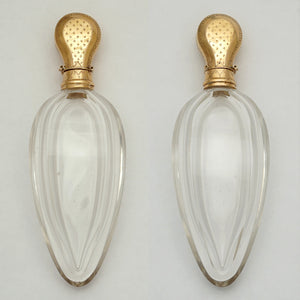 Antique gold & cut glass perfume bottle