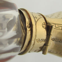 Dutch gold hallmarks on an antique perfume bottle