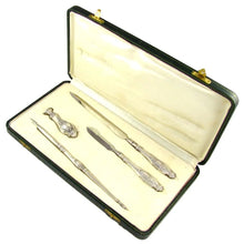 4pc Antique French .800 Silver Desk Set, Writing Tools, Dip Pen, Letter Opener, Wax Seal