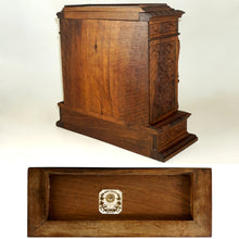 "Load image into Gallery viewer, Antique French Hand Carved Wood 15"" Table Top Cabinet, Black Forest"