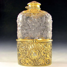 Load image into Gallery viewer, Antique Art Nouveau GORHAM Sterling Silver & Glass Flask,