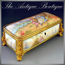 Load image into Gallery viewer, Antique French enamel jewelry box