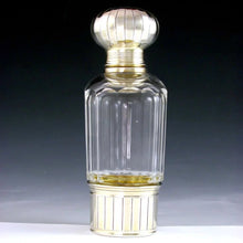 Load image into Gallery viewer, Antique French Sterling Silver Cut Glass Flask