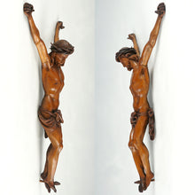 Load image into Gallery viewer, Antique Hand Carved Wood Corpus Christi Jesus Christ Sculpture Figure