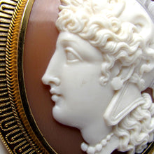 Load image into Gallery viewer, Warrior Goddess Athena Profile Female Antique Cameo Brooch
