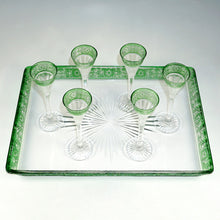 Load image into Gallery viewer, Antique Baccarat Cut Crystal Stemware Set, Rare Empire Pattern